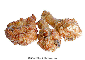 Fried Chicken - Isolated macro image of fried chicken.