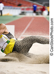 Long Jump - Image of a long jumper in action