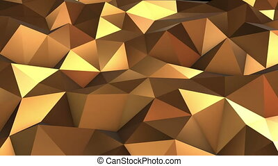 Abstract Low poly loop background Full HD. 3d render