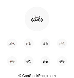 Realistic Hybrid Velocipede, Adolescent, Timbered And Other...