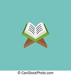 Flat Icon Koran Element. Vector Illustration Of Flat Icon Holy Book Isolated On Clean Background. Can Be Used As Koran, Holy And Book Symbols.