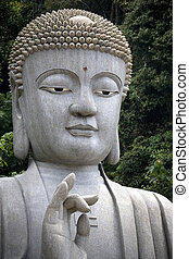 Giant Granite Buddha Statue - Giant granite Buddha statue in...