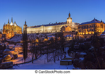 Old Jesuit College and St. Barbara's Church in Kutna Hora....