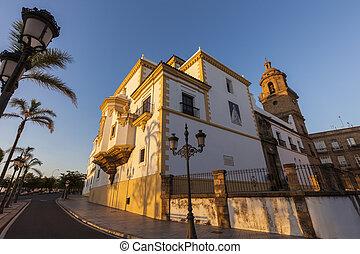 Santo Domingo Church in Cadiz. Cadiz, Andalusia, Spain.