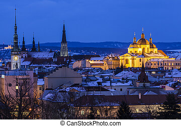Panorama of Olomouc. Olomouc, Olomouc Region, Czech...