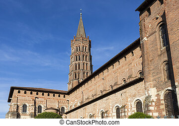 Basilica of St. Sernin in Toulouse. Toulouse, Occitanie,...