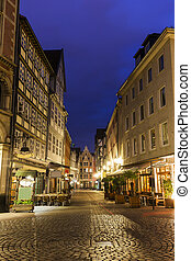Old architecutre of Hanover. Hanover, Lower Saxony, Germany.