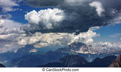Dolomites time lapse from Marmolada top point - Time lapse...