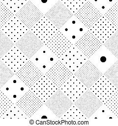 Chaotic Dots Design. Minimal Web Wallpaper - Seamless Circle...