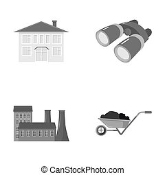 enterprises, industry, hunting and other monochrome icon in...