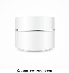 Realistic Cream Can Cosmetic Product. Vector - Realistic...