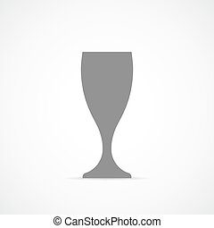 Wine glass cup icon. Vector illustration - Wine glass icon...