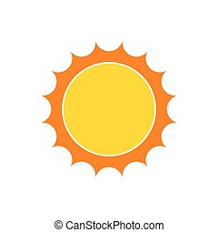 Yellow sun icon. Vector illustration - Yellow sun icon in...