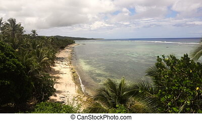 Beach on a tropical island. Philippines,Siargao. - Beautiful...