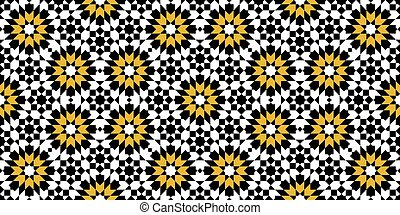 moroccan zellige seamless - Multicolored mosaic moroccan...