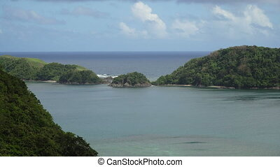 Tropical lagoon,sea, beach. Tropical island. Catanduanes,...