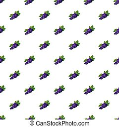 Bunch of blue grapes pattern