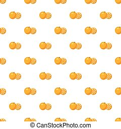 Mandarin pattern seamless repeat in cartoon style vector...