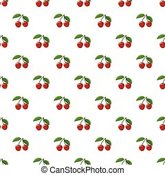 Ripe red cherry berries with pattern