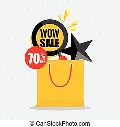 Sale label price tag template design. Vector illustration.
