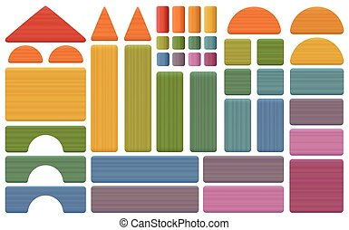 Building Kit Colorful Toy Blocks - Building kit - colorful...