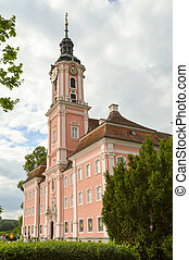 View of the basilica of Birnau in Uhldingen in Baden...