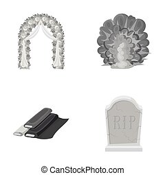 wedding, purchase and other monochrome icon in cartoon...