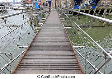 Pedestrian Bridge - Suspension Bridge For Pedestrians Over...