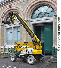 Boom Lift - Yellow Articulated Boom Lift for Construction...
