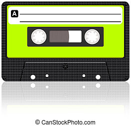 Cassette tape - Audio Cassette tape With Reflection