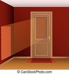 Vector closed door