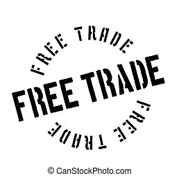 Free Trade rubber stamp. Grunge design with dust scratches....