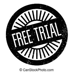 Free Trial rubber stamp. Grunge design with dust scratches....
