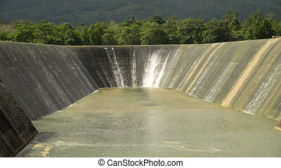 Dam on the lake, Bohol, Philippines. - Dam on the lake in...