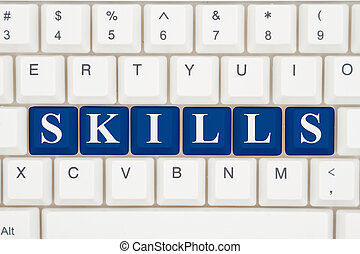 Skills training on the internet, A close-up of a keyboard...