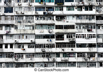 Old apartments in Hong Kong  - Old apartments in Hong Kong.