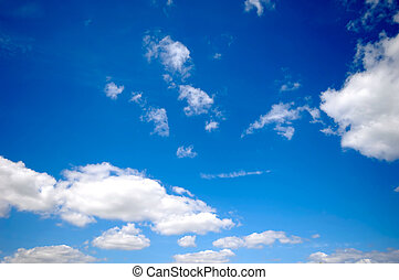 Clouds and sky - Blue sky with white clouds