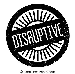 Disruptive rubber stamp. Grunge design with dust scratches....