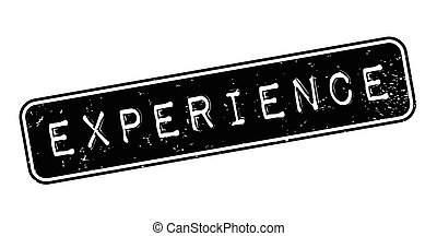 Experience rubber stamp. Grunge design with dust scratches....