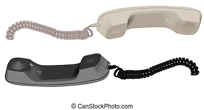 The handset. Illustration in vector format EPS.