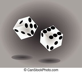Two dices rolling