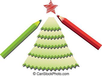 pencil shavings christmas tree - green pencil shavings...