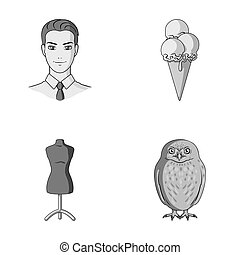 profession, atelier and other monochrome icon in cartoon...
