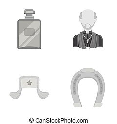 perfume, Russia and other monochrome icon in cartoon style.religion, hippodrome icons in set collection.