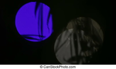 Ghostly Blue White Laser Flares - Ghostly blue white laser...