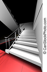 3d render stairway - Stairway to cognition (to heaven).3D...