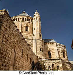 The Dormition Abbey in Jerusalem, Israel - The Dormition...