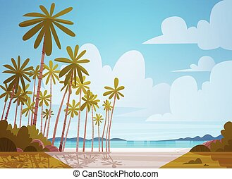 Sea Shore Beach Beautiful Seaside Landscape Summer Vacation...