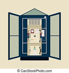 Transformer, electric shield - Picture of the electrical...