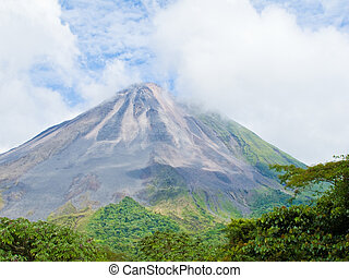 Arenal Volcano - Landscape of the arenal volcano in Costa...